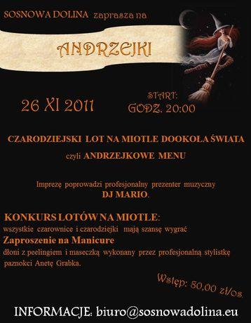 zobacz info Lokale Andrzejki 2011