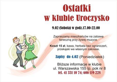 zobacz info Taniec Ostatki w Klubie Uroczysko
