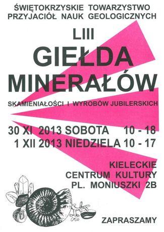 Kieleckie Centrum Kultury Targi Giełda Minerałów, Skamieniałości i Wyrobów Jublierskich