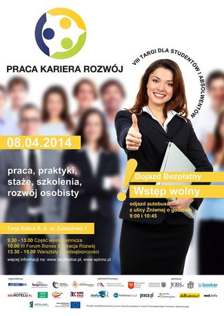 Targi Kielce Targi Targi Praca Kariera Rozwój 2014 dla studentów i absolwentów