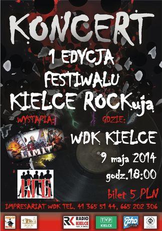 Wojewódzki Dom Kultury Muzyka Kielce ROCKują - pierwsza edycja festiwalu rockowego