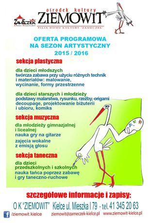 Ziemowit Kultura Zapisy na zajęcia klubowe