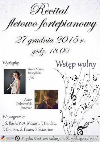 Miejskie Centrum Kultury, Skarżysko-Kamienna Muzyka Recital fletowo fortepianowy