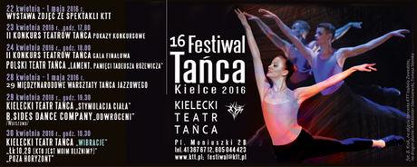 Kielecki Teatr Tańca Taniec 16 Festiwal Tańca KIELCE 2016