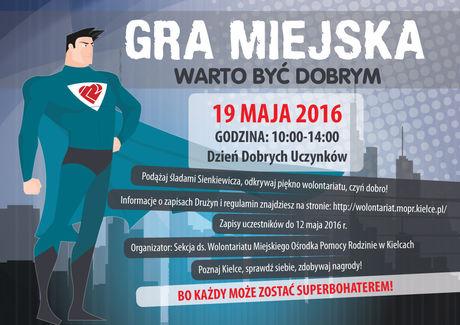 zobacz info Kielce Warto być dobrym - kielecka gra miejska