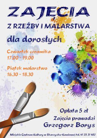 Miejskie Centrum Kultury, Skarżysko-Kamienna Sztuki plastyczne Zajęcia z rzeźby i malarstwa dla dorosłych