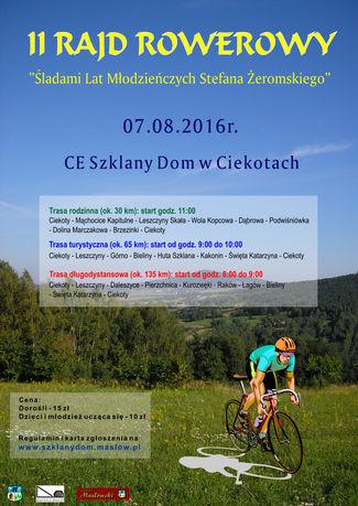 Centrum Edukacyjne - Szklany Dom Sport i Rekreacja Rajd rowerowy śladami Żeromskiego