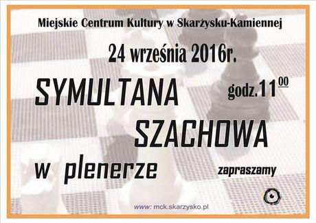 Miejskie Centrum Kultury, Skarżysko-Kamienna Sport i Rekreacja Symultanta szachowa w plenerze