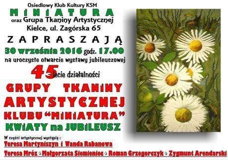 OKK Miniatura Sztuki plastyczne 45-lecie Grupy Tkaniny Artystycznej Klubu Miniatura