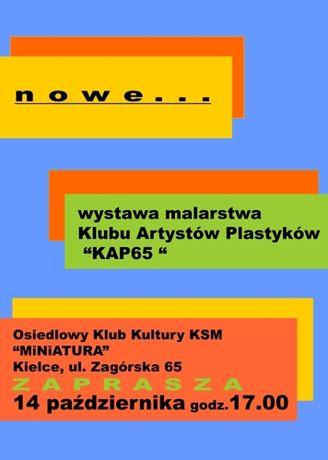 OKK Miniatura Sztuki plastyczne Klub Artystów Plastyków KAP65 - Nowe...