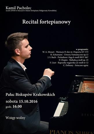 Pałac Biskupów Krakowskich Muzyka Recital fortepianowy Kamila Pacholca