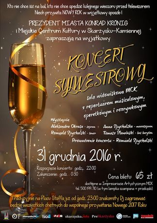 Miejskie Centrum Kultury, Skarżysko-Kamienna Muzyka Koncert Sylwestrowy