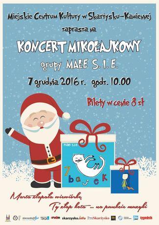 Miejskie Centrum Kultury, Skarżysko-Kamienna Muzyka Koncert Mikołajkowy grupy MAŁE S.I.E