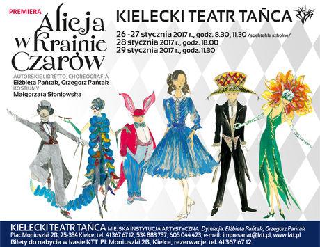 Kielecki Teatr Tańca Taniec Alicja w Krainie Czarów - premiera