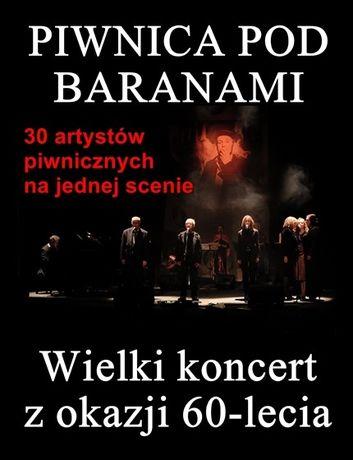 Kieleckie Centrum Kultury Kielce Piwnica pod Baranami: Wielki koncert z okazji 60-lecia