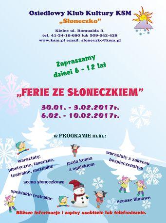 Słoneczko Kultura Ferie ze Słoneczkiem