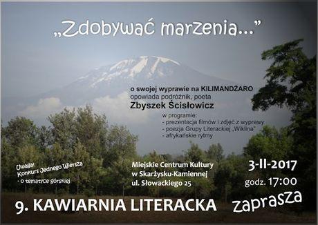 Miejskie Centrum Kultury, Skarżysko-Kamienna Literatura Kawiarnia Literacka - Zbyszek Ścisłowicz