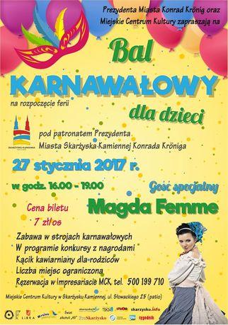Miejskie Centrum Kultury, Skarżysko-Kamienna Kultura Bal Karnawałowy dla dzieci