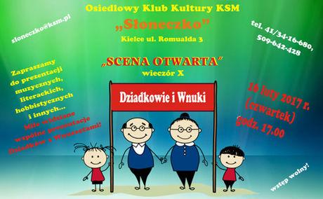 Słoneczko Kultura Scena Otwarta - Dziadkowie i Wnuki