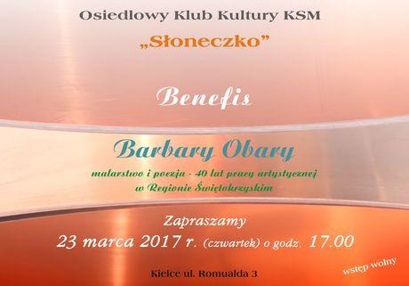 Słoneczko Kultura Benefis Barbary Obary