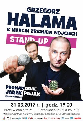 Miejskie Centrum Kultury, Skarżysko-Kamienna Kabaret Stand UP - Halama&Marcin Zbigniew Wojciech