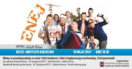 Amfiteatr Kadzielnia Muzyka Koncert zespołu Enej i Folk,n Roll