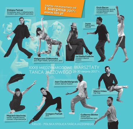 Kielecki Teatr Tańca Taniec XXXII Międzynarodowe Warsztaty Tańca Jazzoweo