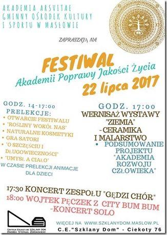 Centrum Edukacyjne - Szklany Dom Kultura Festiwal Akademii Jakości Życia