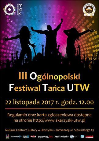 Miejskie Centrum Kultury, Skarżysko-Kamienna Taniec III Ogólnopolski Festiwal Tańca UTW