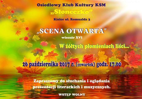Słoneczko Kultura W żółtych płomieniach liści / Scena Otwarta