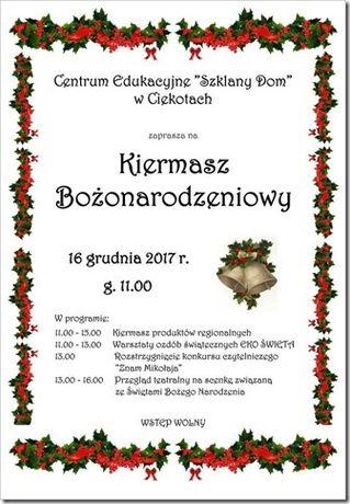 Centrum Edukacyjne - Szklany Dom Targi Kiermasz świątoeczny