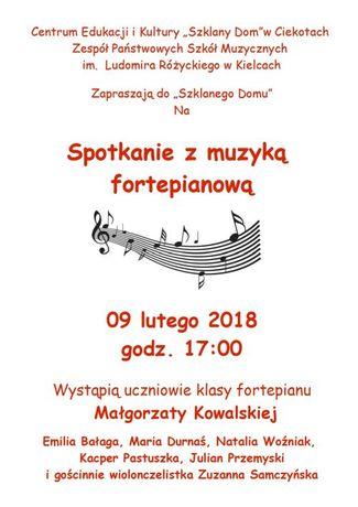 Centrum Edukacyjne - Szklany Dom Muzyka Koncert fortepianowy