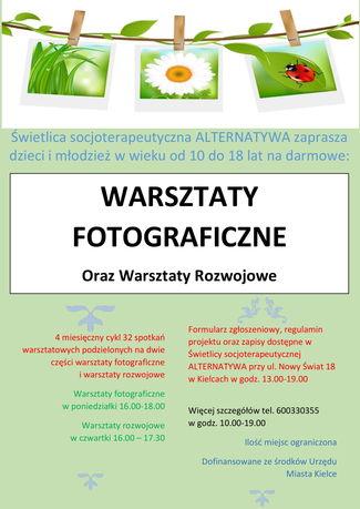 Fotografia Fotografia i Rozwój - darmowe warsztaty fotograficzne