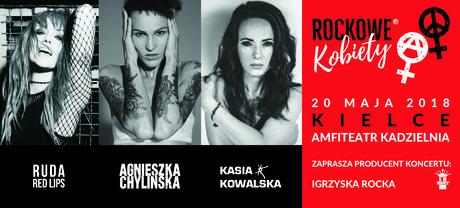 Amfiteatr Kadzielnia Muzyka Rockowe Kobiety - Chylińska, Kowalska, Ruda z Red Lips