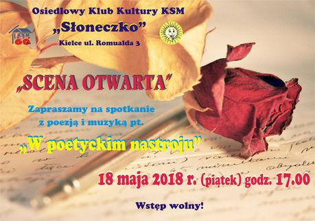 Słoneczko Literatura W poetyckim nastroju / Scena Otwarta