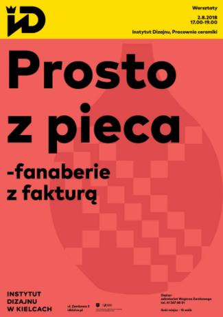 Institute of Design Kielce Sztuki plastyczne Prosto z Pieca / warsztaty dla dorosłych