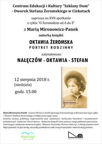 Centrum Edukacyjne - Szklany Dom Kultura Spotkanie z Marią Mironowicz- Panek