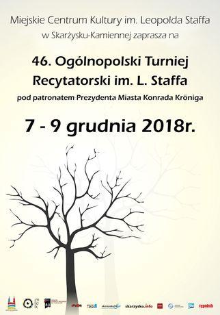 Miejskie Centrum Kultury, Skarżysko-Kamienna Literatura 46. Ogólnopolski Turniej Recytatorski im. Leopolda Staffa!