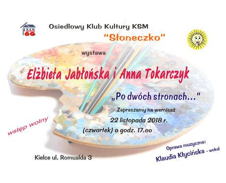 Słoneczko Sztuki plastyczne Elżbieta Jabłońska & Anna Tokarczyk ''Po dwóch stronach...''