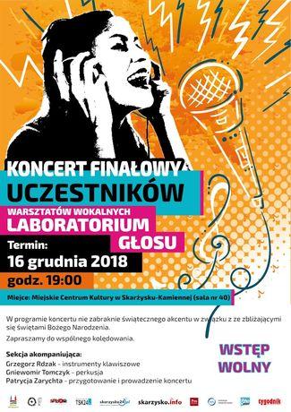 Miejskie Centrum Kultury, Skarżysko-Kamienna Muzyka Koncert finałowy Laboratorium Głosu - Patrycja Zarychta