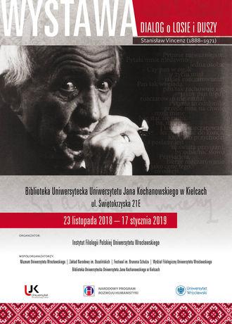 Biblioteka Uniwersytecka UJK Kultura Dialog o losie i duszy. Stanisław Vincenz (1888-1971)