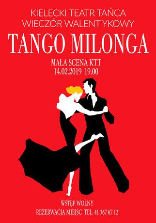 Kieleckie Centrum Kultury Taniec Walentynkowy Wieczór Milonga