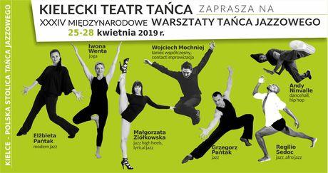 Kielecki Teatr Tańca Taniec XXXIV Międzynarodowe Warsztaty Tańca Jazzowego