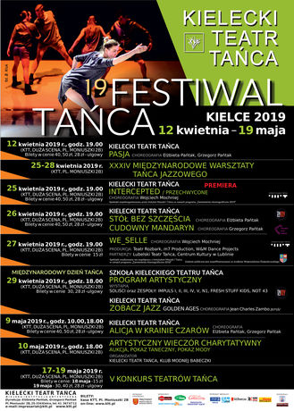 Kielecki Teatr Tańca Taniec 19 FESTIWAL TAŃCA KIELCE 2019