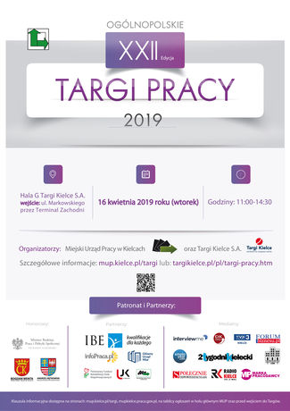 Targi Kielce Targi XXII OGÓLNOPOLSKIE TARGI PRACY
