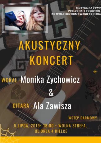 zobacz info Muzyka Akustyczny koncert - Monika Zychowicz & Ala Zawisza
