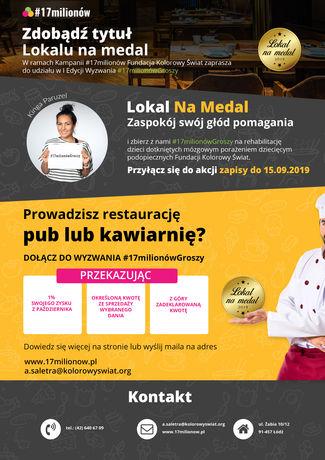 zobacz info Kuchnia Wyzwanie dla restauracji #17milionówGroszy