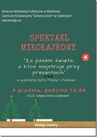 Spektakl Mikołajkowy_Centrum Edukacyjne - Szklany Dom