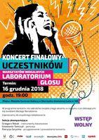 Koncert finałowy Laboratorium Głosu - Patrycja Zarychta_Miejskie Centrum Kultury, Skarżysko-Kamienna