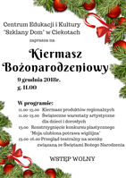 Kiermasz Bożonarodzeniowy_Centrum Edukacyjne - Szklany Dom